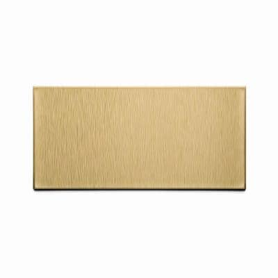 Short Grain 6 in. x 3 in. Brushed Champagne Metal Decorative Wall Tile (8-Pack)