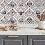 Mexican Blue Tiles Peel And Stick Giant Wall Decals