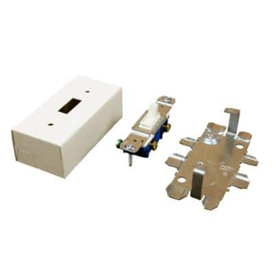Wiremold 500 and 700 Series Metal Surface Raceway Switch Box, Ivory