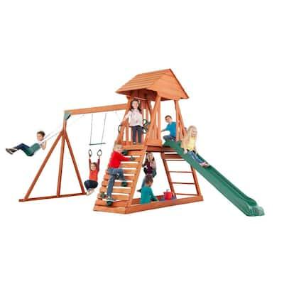 Cedar Chalet Complete Wooden Playset