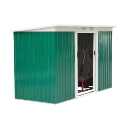 Outsunny 9-ft x 4-ft Outdoor Rust-Resistant Metal Garden Vented Storage Shed w/ Spacious Layout and Durable Construction