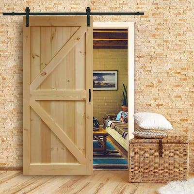 30 in. x 83.5 in K-Rail Unfinished Solid Core Pine Barn Door Slab