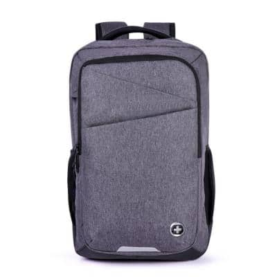 Micro 17.3 in. Gray Laptop Backpack with RFID and USB Charging Port