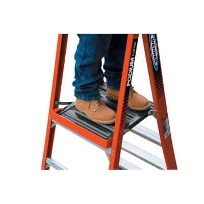 8 ft. Fiberglass Podium Step Ladder ( 14 ft. Reach Height) with 300 lbs. Load Capacity Type IA Duty Rating