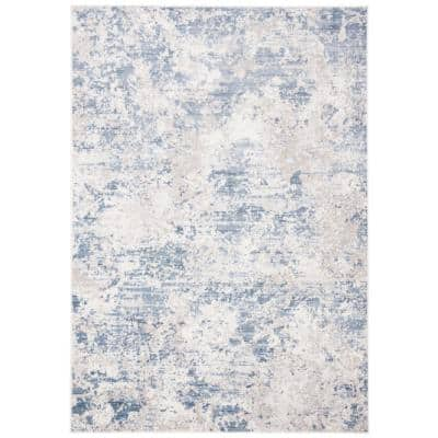 Amelia Gray/Blue 6 ft. x 9 ft. Abstract Area Rug