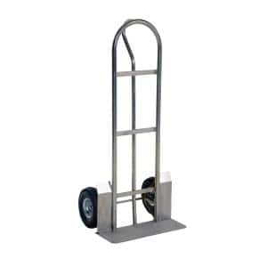 600 lb. Capacity Stainless Steel P Handle Truck-Pneumatic Wheels