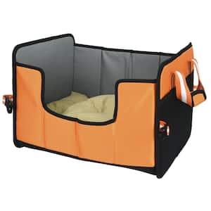 Large Orange Travel-Nest Folding Travel Cat and Dog Bed