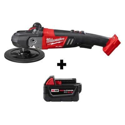 M18 FUEL 18-Volt Lithium-Ion Brushless Cordless 7 in. Variable Speed Polisher with Free M18 5.0 Ah Battery
