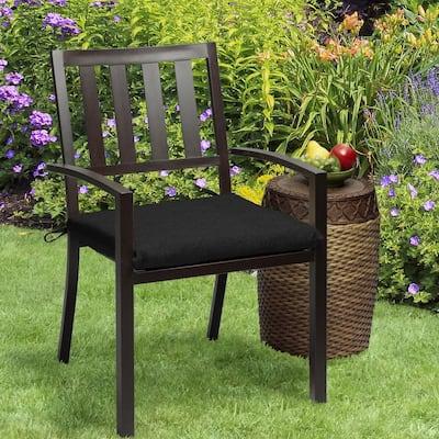 Oak Cliff 20 x 18 Sunbrella Canvas Black Outdoor Chair Cushion (2-Pack)