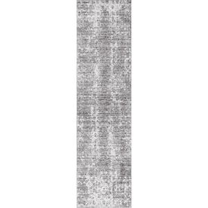 Deedra Misty Contemporary Gray 3 ft. x 12 ft. Runner