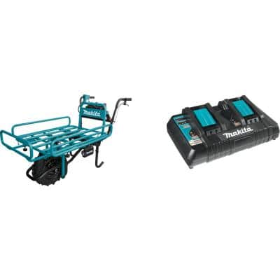 18-Volt X2 LXT Brushless Power-Assisted Flat Dolly (Tool Only) with bonus 18-Volt LXT Dual Port Rapid Optimum Charger