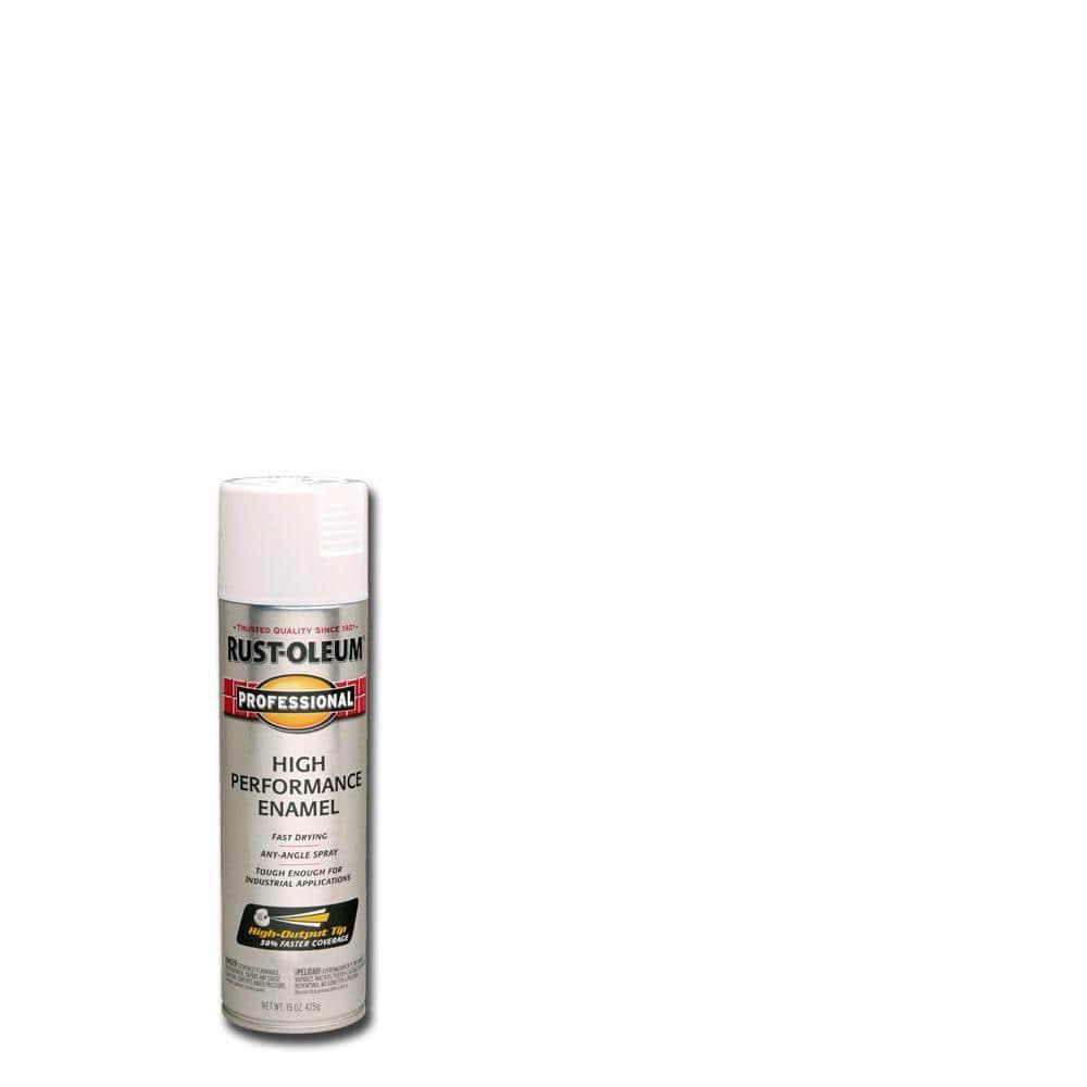 Rust-Oleum Professional 15 oz. High Performance Enamel Gloss White Spray Paint