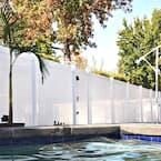 Pembroke 5.4 ft. W x 6 ft. H White Vinyl Privacy Fence Gate Kit