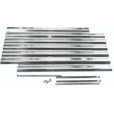 Alto Series 36 in. x 17 in. Galvanized Metal Raised Garden Bed Extension Set