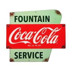 Coca-Cola Service Embossed Tin Sign