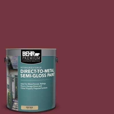 1 gal. #S130-7 Cherry Cola Semi-Gloss Direct to Metal Interior/Exterior Paint