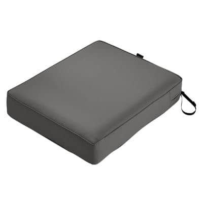 Montlake 23 in. W x 25 in. D x 5 in. Thick Light Charcoal Grey Outdoor Lounge Chair Cushion