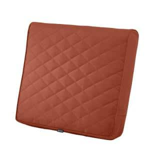 Montlake FadeSafe 21 in. W x 20 in. D x 4 in. Thick Spice Outdoor Quilted Lounge Chair Back Cushion