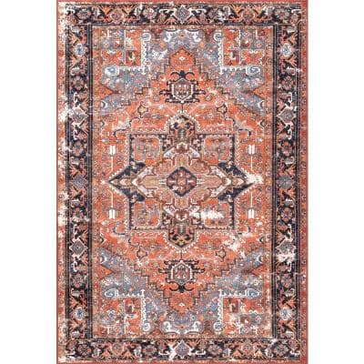 Sherita Oriental Persian Rust 10 ft. x 14 ft. Area Rug
