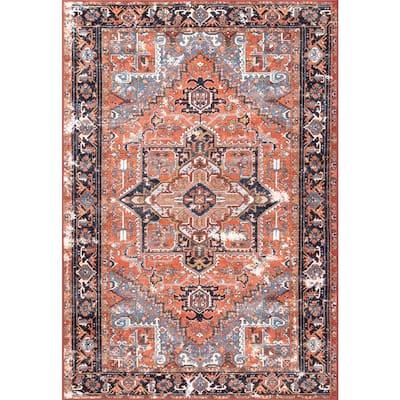 Sherita Oriental Persian Rust 7 ft. x 8 ft. Area Rug