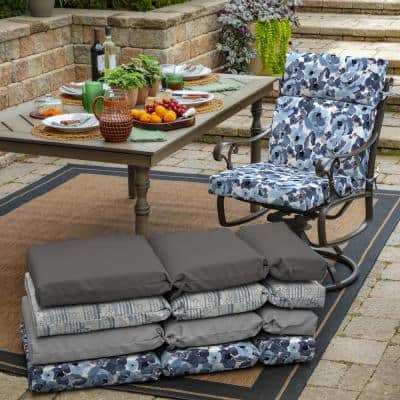 21 in. x 44 in. Garden Delight Outdoor Dining Chair Cushion