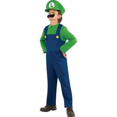 Super Mario Bros Medium Boys Luigi Kids Costume