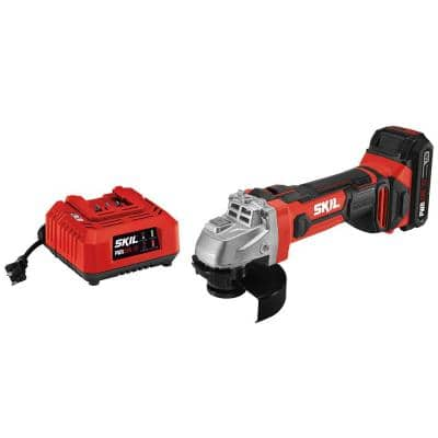 PWRCORE 20-Volt Lithium-ion Cordless 4-1/2 in. Angle Grinder Kit