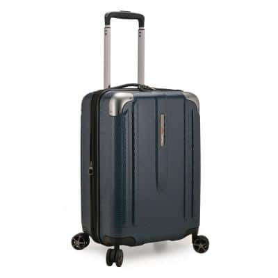New London II 22 in. Navy Hardside Expandable Spinner Luggage