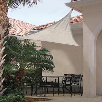 12 ft. x 12 ft. Almond Triangle Shade Sail