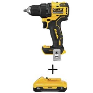 ATOMIC 20-Volt MAX Cordless Brushless Compact 1/2 in. Drill/Driver with (1) 20-Volt 4.0Ah Battery