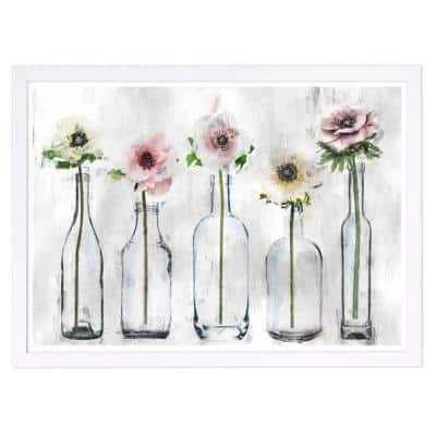 """Floral and Botanical """"Anemone Floral"""" Framed Art Print 13 in. x 19 in."""