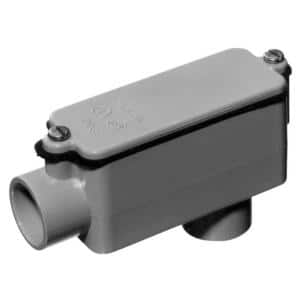 1 in. Schedule 40 and 80 PVC Type-LB Conduit Body (Case of 12)