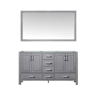 Jacques 59 in. W x 21.50 in. D Bath Vanity Cabinet in Distressed Grey with Mirror