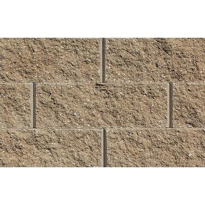 Mini 3 in. H x 8 in. W x 9 in D Sandstone Concrete Wall Cap (104 Pieces/69 Linear ft. /Pallet)
