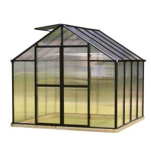 8 ft. x 8 ft. Black Frame Quick Assembly Greenhouse