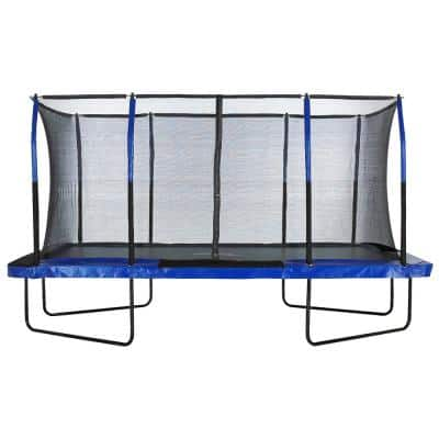 Easy Assemble Spacious 8 ft. x 14 ft. Rectangular Trampoline with Fiber Flex Enclosure Feature