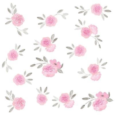 Flower Wall Decal Cute Vinyl Sticker Home Arts Floral Wall Decals Swirl  WT042