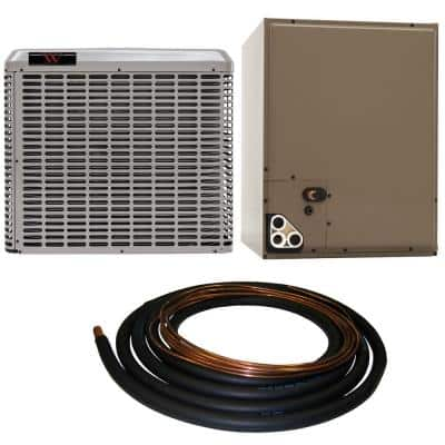 3 Ton 13 SEER Residential Whole House Unit Sweat A/C System with 30 ft. Line Set