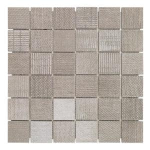 Lungo Smoke 11.81 in. x 11.81 in. 10mm Matte porcelain Floor and Wall Mosaic Tile (0.97 sq. ft. per Sheet)
