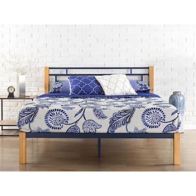 Taylan Metal & Wood Platform Bed, Full