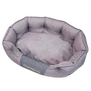 Large Grey Concept-Bark Water-Resistant Premium Oval Dog Bed