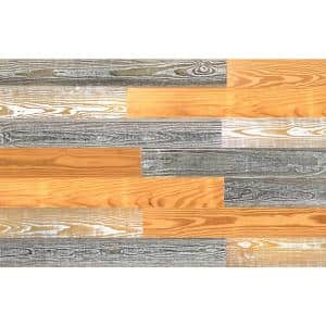 Thermo-treated 1/4 in. x 5 in. x 4 ft. Brown Barn Wood Wall Planks (10 sq. ft. per 6 Pack)