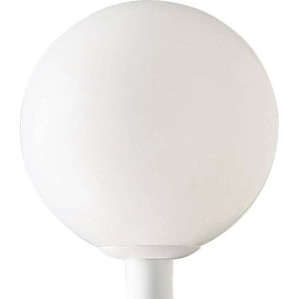 Progress Lighting Acrylic Globe 1 Light, Mid Century Modern Outdoor Light Post