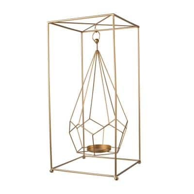 21.5 in. Metal Gold Candle Holder