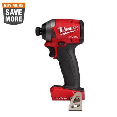 M18 FUEL ONE-KEY 18 Volt Lithium-Ion Brushless Cordless 1/4 in. Hex Impact Driver (Tool-Only)