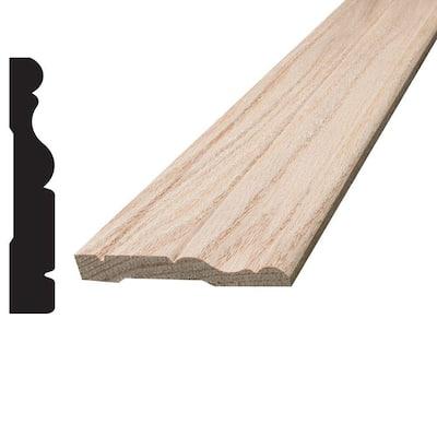 3/8 in. x 2-1/2 in. x 96 in. Oak Wood Colonial Casing Moulding