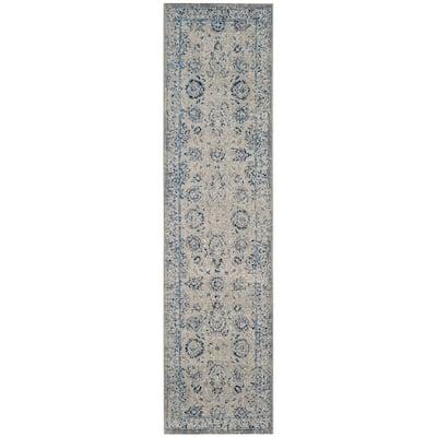 Artisan Silver 2 ft. x 12 ft. Border Runner Rug
