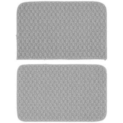 Town Square Silver 18 in. x 28 in. 2-Piece Rug Set