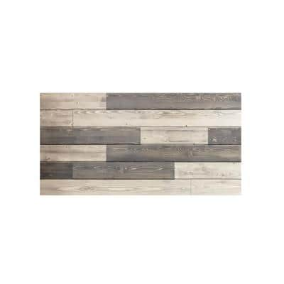 1 in. x 48 in. x 24 in. Mixed Weathered and Charcoal Gray Knotty Pine Wood Express Wall Accent Panel (4-Pack)