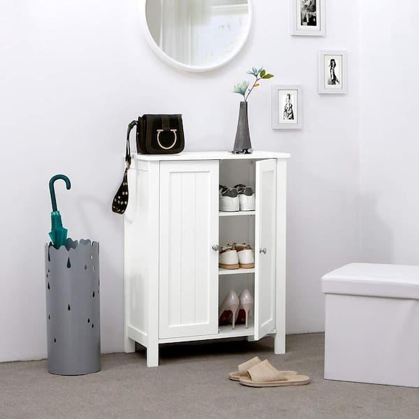 Nestfair 23 6 In W Bathroom Floor, Floor Bathroom Cabinet White